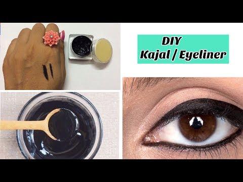 How to make kajal or liner at home - Smudge Free, Long Lasting, Dark Black | Natural Kajal or liner from YouTube · Duration:  1 minutes 51 seconds