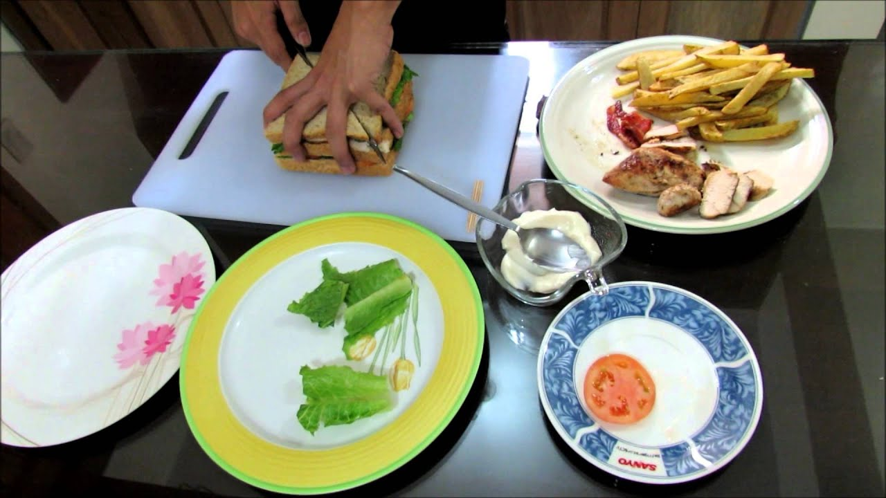 how to make easy CLUB HOUSE SANDWICH - YouTube