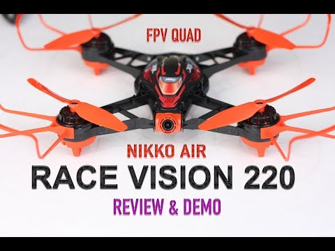 DRL Nikko Air Race Drone Vision 220 FPV Pro - Review & Demo