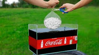 Experiment: Giant Mentos Balloon Put In Coca Cola