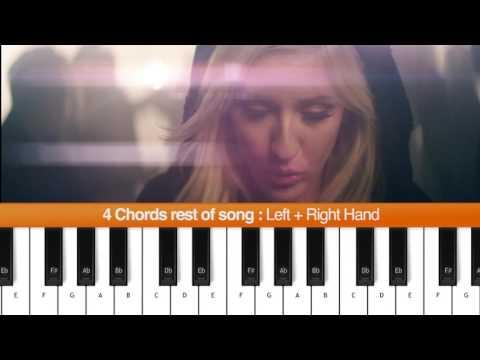 #13 Learn to play Burn  Ellie Goulding Piano Tutorial   Chords