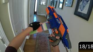Nerf War Game! Pt. 4! (NERF GUN GAME) (FIRST PERSON GUN GAME)