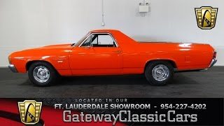 1972 Chevrolet El Camino - Gateway Classic Cars of Ft Lauderdale Stock #