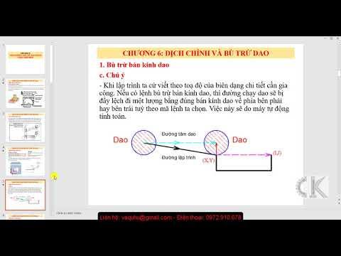 CNC - Hướng dẫn lệnh bù trừ bán kính dao G41-G42-G40 - Bài 7