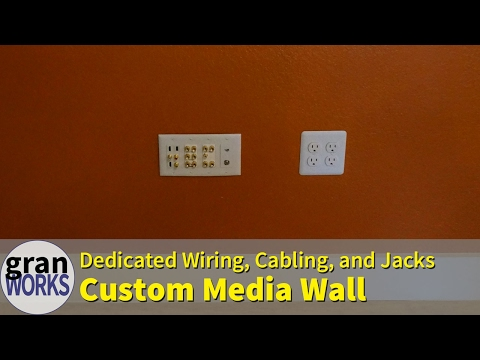 Building A Media Wall With All Custom Wiring, Cabling, And Ports