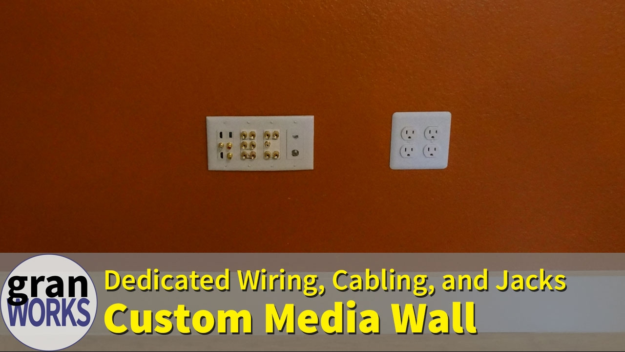 Building A Media Wall With All Custom Wiring Cabling And Ports Basic Phone Jack