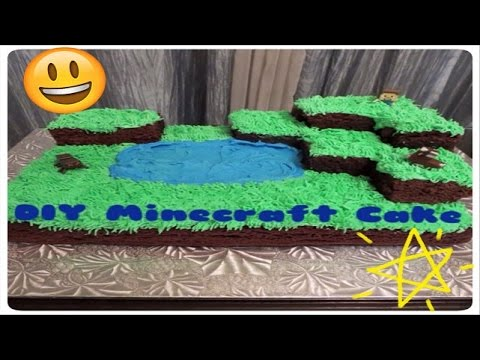 How To Make A Minecraft Cake Village Cake Tutorial For