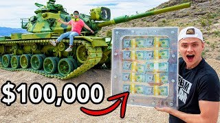 TANK VS $100,000 UNBREAKABLE BOX!!