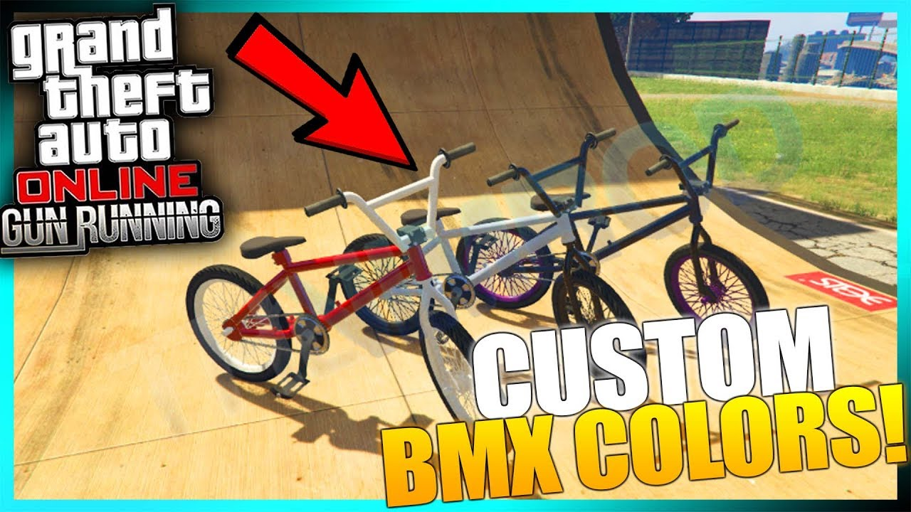 Gta Online How To Get Custom Colors On Bmx Bikes Gta 5 Glitch Youtube