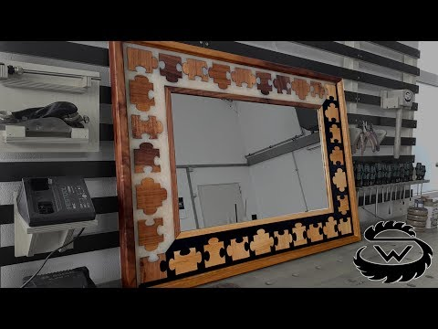Wandspiegel aus Epoxy Resin im Puzzle Design // Epoxy Puzzle Mirror DIY