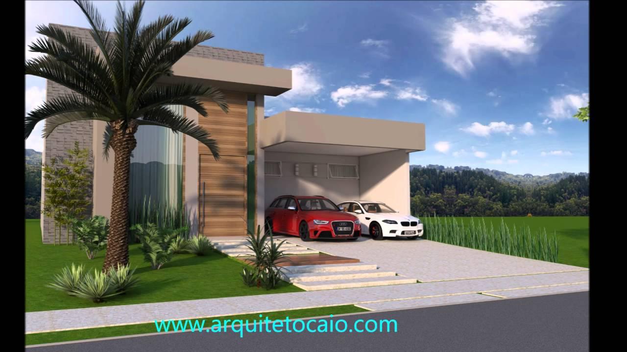 Projeto casa terrea arquitetura moderna vidro beiral for Fachadas de casas modernas