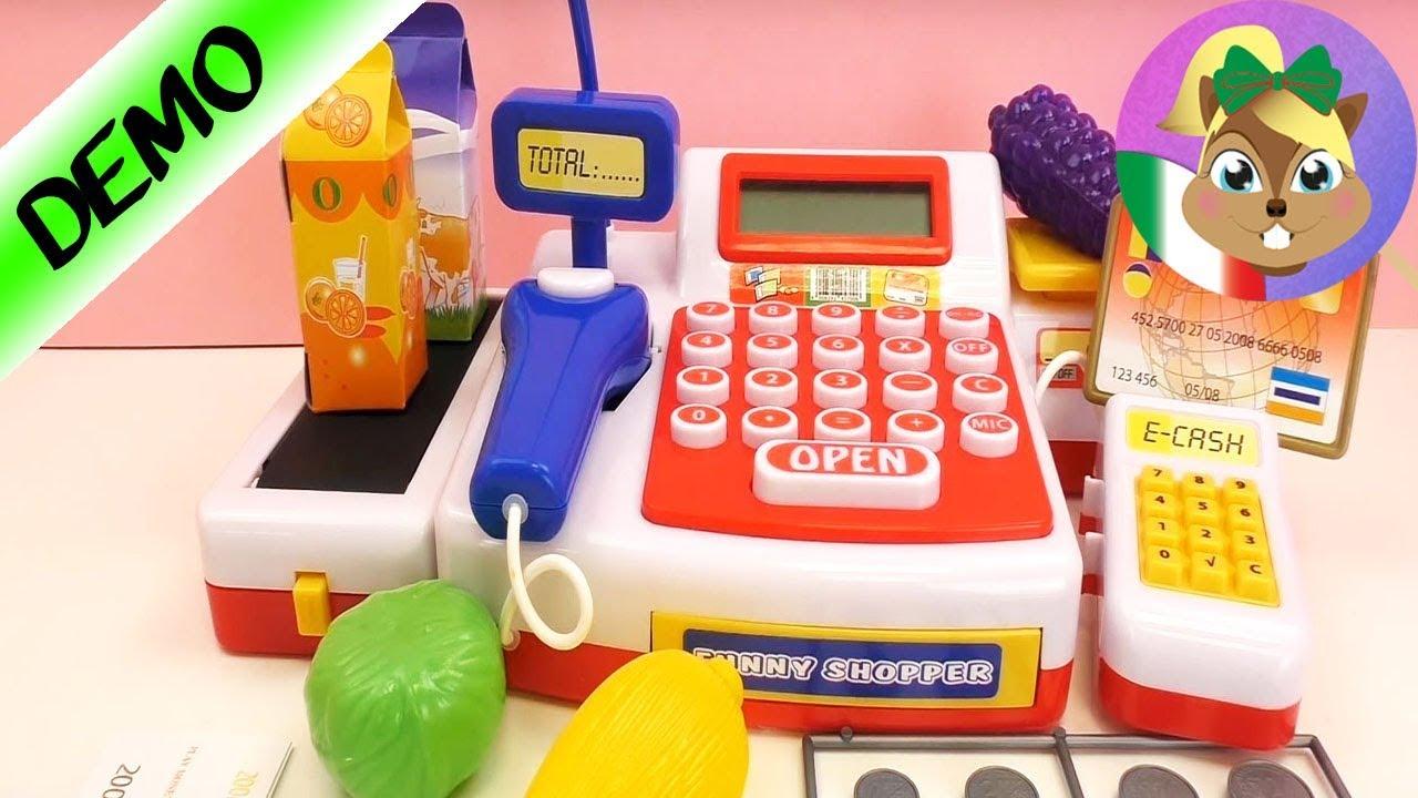 Cassa del supermercato con scanner - Divertente scanner shopper ...