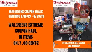WALGREENS EXTREME COUPON HAUL DEALS STARTING 6/16/19~16 ITEMS ONLY .60