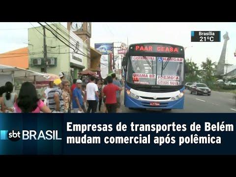 Empresas de transportes de Belém mudam comercial após polêmica   SBT Brasil (21/08/18)