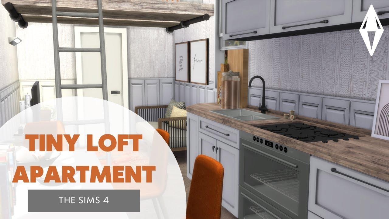 TINY LOFT APARTMENT // THE SIMS 4 SPEED BUILD