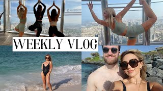 LIVING IN DUBAI VLOG: Yoga at the top of Burj Khalifa + Zaya Nurai Island!