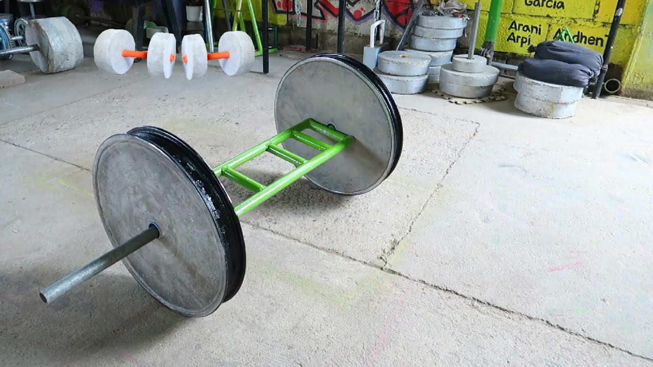 How to Make Homemade Cement Barbell - Diy Concrete Barbell Plate
