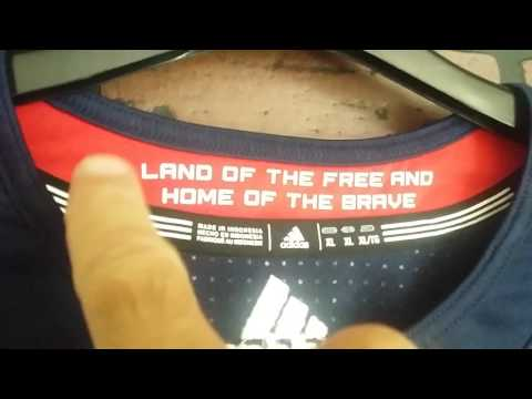 2016 Team USA WORLD CUP HOCKEY Retail Adidas Premier Hockey Jersey's