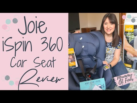 JOIE SPIN 360 ISIZE GROUP 0+/1 CAR SEAT REVIEW | ISOFIX INSTALLATION | AD | MUMMY OF FOUR