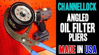 Channellock 2012 Angled Oil Filter Pliers - MADE IN USA