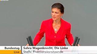Сара Вагенкнехт:  Европа должна прекратить поддерживать США!