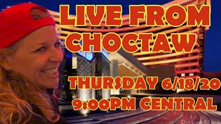 🚨LIVE FROM CHOCTAW TIME TO PLAY SOME SLOTS -HUGE VGT TAX FREE JACKPOT-HOW ' BOUT THEM 🍎 🚨