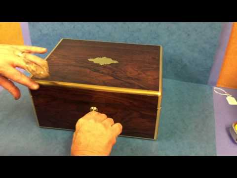 English Antique Georgian Gents Jewellery Box