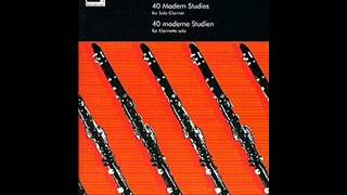 Flying Overland (No. 18) from James Rae-40 Modern Studies for Solo Clarinet