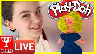 YOUTUBER PLAY-DOH CHALLENGE!  | KITTIESMAMA LIVESTREAM