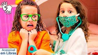 👋🏻 LIBRAS 👋 Valentina Pontes é médico por um dia e salva sua irmã  - History of washing hands