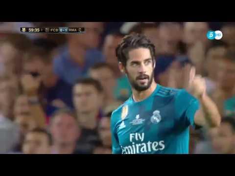 Isco Alarcon vs Barcelona Spanish Super Cup 13/08/2017 HD