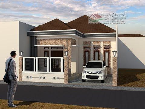 Desain Rumah Minimalis Ukuran 7x14  rumah minimalis lantai 1 modern house 8x19 youtube
