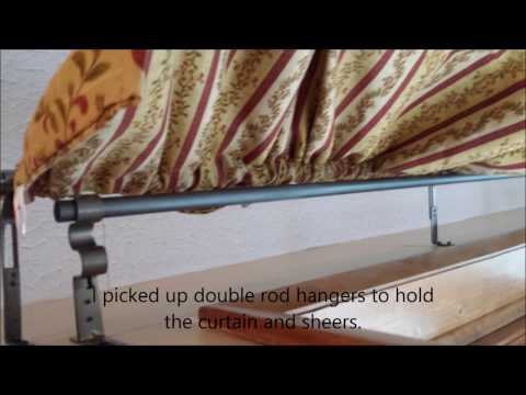 Electrical conduit curtain rods