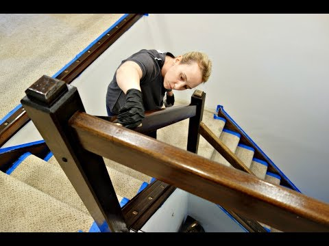 Stain Banister Metal Baluster Posts Change Complete Railing Refinish