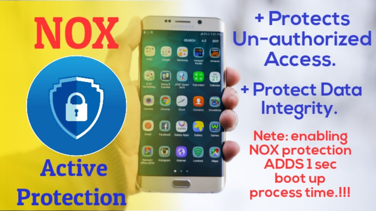 Protect Your Phone From hackers with Nox Active Protection.