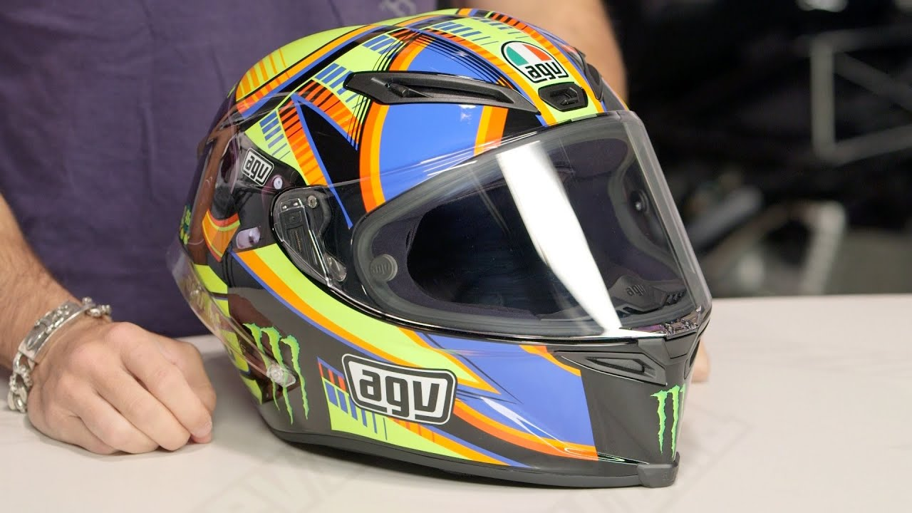 AGV Corsa Double Face Winter Test LE Rossi Helmet Review At RevZilla