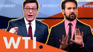"After Stephen Colbert called Donald Trump's mouth Vladimir Putin's ""cockholster,"" the FCC was flooded with demands he be fined. But should the FCC have the ..."