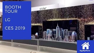 CES 2019 LG Electronics Booth Walkthrough including their incredible rollup TV