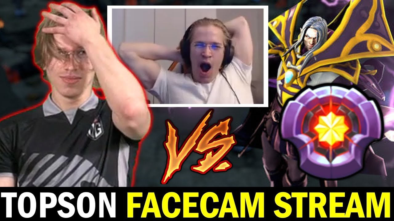 TOPSON STREAM with FACECAM - vs Master Tier Invoker Stormstormer Dota 2 thumbnail