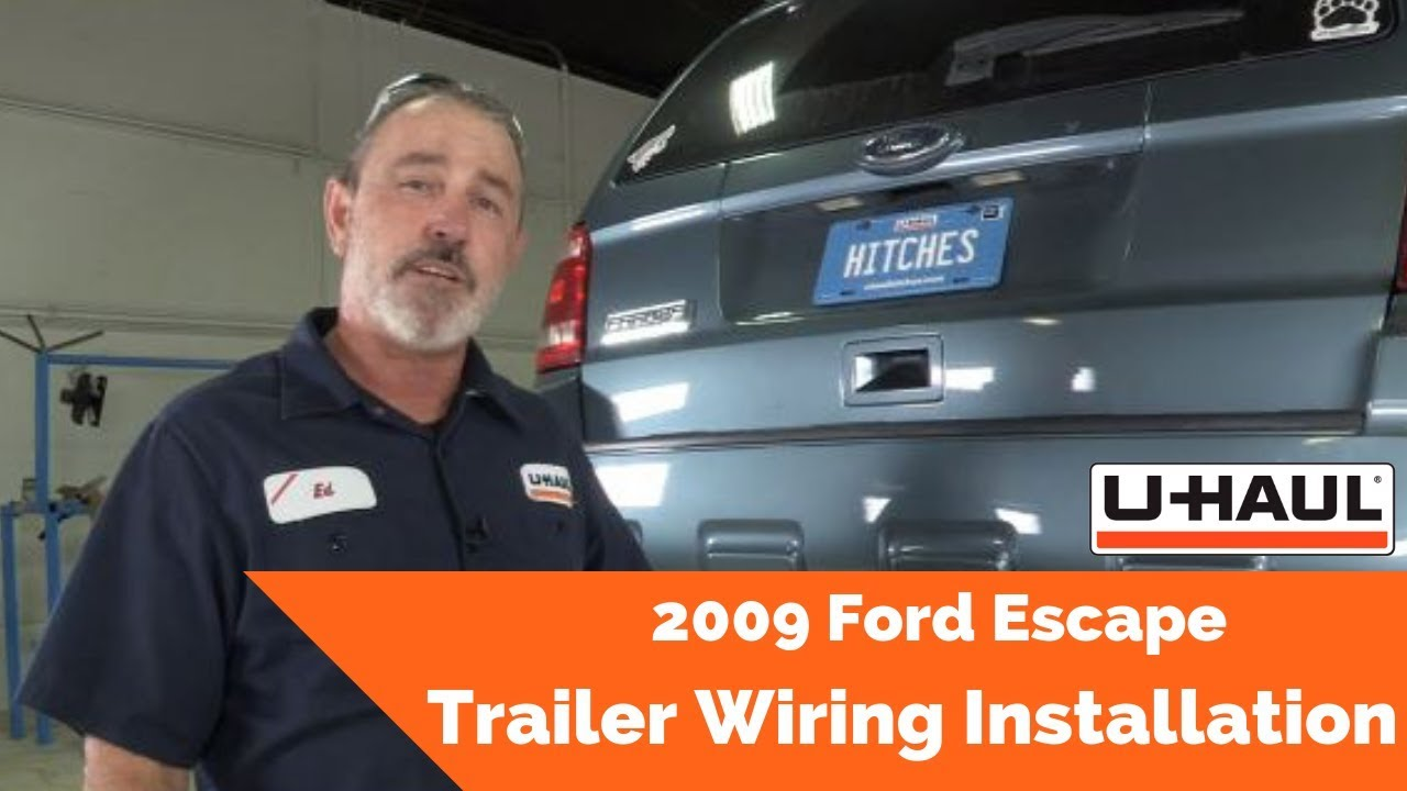 2009 Ford Escape Trailer Wiring Installation - YouTube