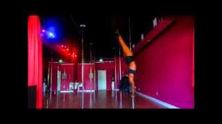 shelly Pole dancing to Ciara body party  at Exotic Workouts Sunrise