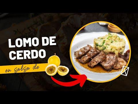 Lomo de cerdo en salsa de Maracuyá