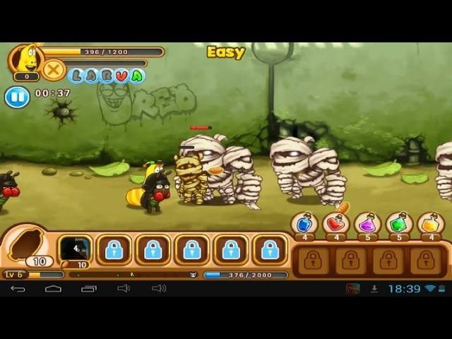 Larva Heroes: Lavengers 2014 the game - Android gameplay GamePlayTV Travel Video