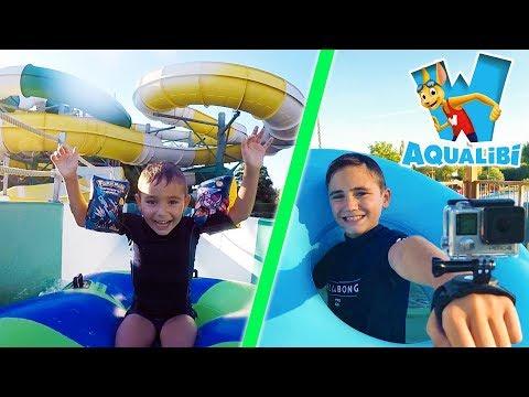 VLOG - Avec la GoPro dans les Grands Toboggans - Parc Aquatique AQUALIBI 💦