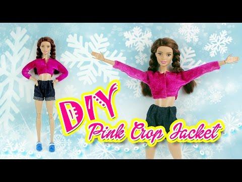 สอนทำเสื้อคลุมตัวสั้นสุดเปรี้ยว | DIY Cropped Jackets | Barbie by Nokie