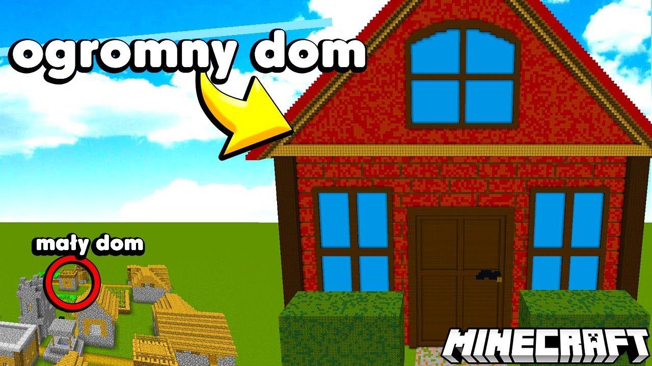 OGROMNY DOM vs MAŁY DOM w MINECRAFT
