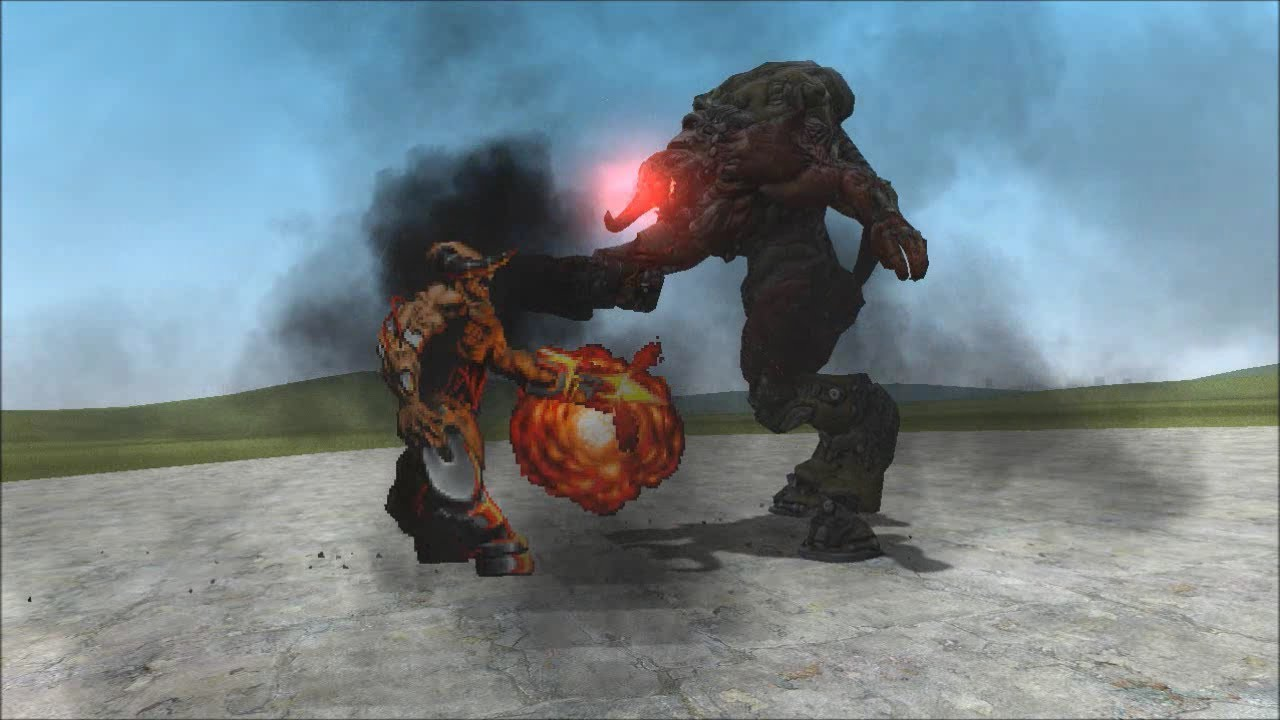 [Gmod] Classic Cyberdemon VS  Doom 3 Cyberdemon