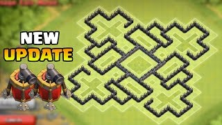 Clash Of Clans - Town Hall 9 (TH9) Best Farming Base 2 Air Sweepers + Dark Spell Factory New Update