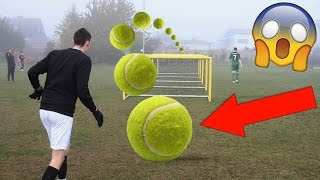EXTREME TENNIS FOOTBALL CHALLENGES VS BRO!!!!