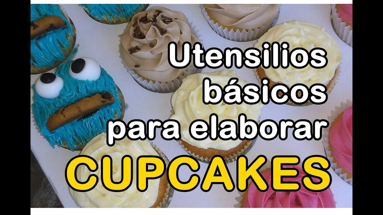 Utensilios b sicos para la elaboraci n de cupcakes youtube for Utensilios de cocina basicos
